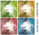 set of colored abstract floral... | Shutterstock .eps vector #1084617458