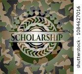 scholarship camouflage emblem   Shutterstock .eps vector #1084627016