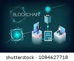 blockchain technology vector... | Shutterstock .eps vector #1084627718