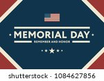 memorial day usa greeting card... | Shutterstock .eps vector #1084627856