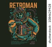 retro man illustration | Shutterstock .eps vector #1084629428