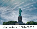 lady liberty  statue of liberty ... | Shutterstock . vector #1084633292