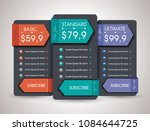 price list widget with 3...