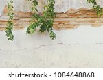 old damaged brick plaster wall... | Shutterstock . vector #1084648868