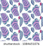 seamless print with large... | Shutterstock .eps vector #1084651076
