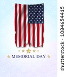 memorial day greeting card.... | Shutterstock .eps vector #1084654415