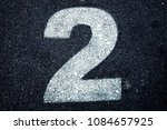number 2  two  painted with... | Shutterstock . vector #1084657925