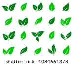 set of abstract isolated green... | Shutterstock .eps vector #1084661378