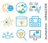 set of 9 simple editable icons... | Shutterstock .eps vector #1084662308