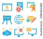 set of 9 simple editable icons... | Shutterstock .eps vector #1084662368