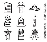 set of 9 simple editable icons... | Shutterstock .eps vector #1084663256