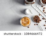 flat lay composition with cold... | Shutterstock . vector #1084666472