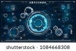 hud. radar screen. futuristic...   Shutterstock .eps vector #1084668308