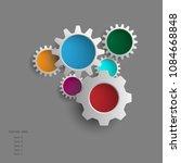 info graphic gears website... | Shutterstock .eps vector #1084668848