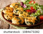 dietary tasty meat balls with... | Shutterstock . vector #1084673282
