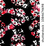 seamless floral pattern for... | Shutterstock .eps vector #1084674698