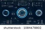 radar screen. hud. futuristic... | Shutterstock .eps vector #1084678802