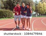 young athlete injured to knee... | Shutterstock . vector #1084679846