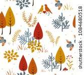 forest trees seamless vector... | Shutterstock .eps vector #1084680518