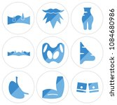set of 9 simple editable icons... | Shutterstock .eps vector #1084680986