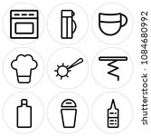 set of 9 simple editable icons... | Shutterstock .eps vector #1084680992