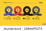 four points process chart slide ... | Shutterstock .eps vector #1084695275