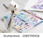 art therapy. painting classes... | Shutterstock . vector #1084700426