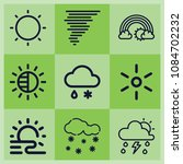 outline weather icon set such... | Shutterstock .eps vector #1084702232