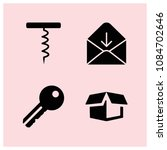 filled open icon set such as... | Shutterstock .eps vector #1084702646