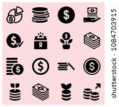 filled money icon set such as...   Shutterstock .eps vector #1084703915