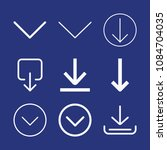 outline downloading icon set... | Shutterstock .eps vector #1084704035