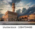 square of signoria in florence... | Shutterstock . vector #1084704488