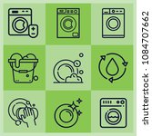 outline cleaning icon set such... | Shutterstock .eps vector #1084707662
