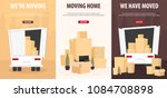 set of moving home banners....   Shutterstock .eps vector #1084708898