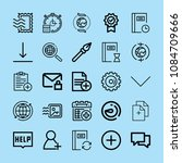 outline interface icon set such ... | Shutterstock .eps vector #1084709666