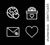 outline heart icon set such as... | Shutterstock .eps vector #1084711655