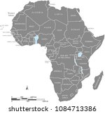 africa map vector outline... | Shutterstock .eps vector #1084713386