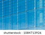 modern glass facade   office... | Shutterstock . vector #1084713926