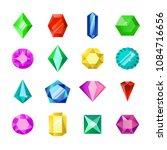 jewels or diamonds brilliant... | Shutterstock .eps vector #1084716656
