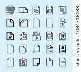 outline set of 25 document... | Shutterstock .eps vector #1084718288