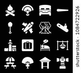 filled set of 16 holidays icons ...   Shutterstock .eps vector #1084722926