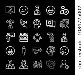 outline set of 25 people icons... | Shutterstock .eps vector #1084725002