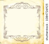 retro baroque decorations... | Shutterstock .eps vector #1084726925