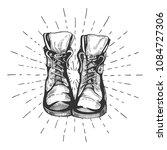 vector illustration of an old... | Shutterstock .eps vector #1084727306