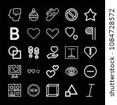 outline set of 25 shapes icons... | Shutterstock .eps vector #1084728572