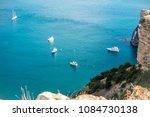 the rocky islands. high rocky... | Shutterstock . vector #1084730138