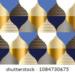 navy blue and gold luxury... | Shutterstock .eps vector #1084730675