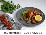 baked chicken legs with... | Shutterstock . vector #1084732178