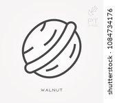 line icon walnut | Shutterstock .eps vector #1084734176