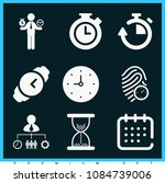 set of 9 time filled icons such ... | Shutterstock .eps vector #1084739006